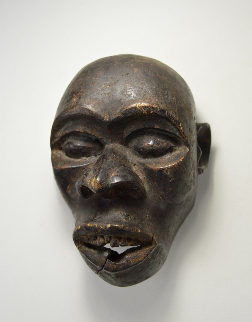 A Rare Old Bulu Monkey Mask, African Art - 2