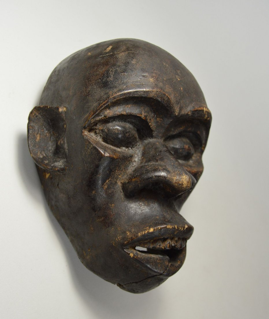 A Rare Old Bulu Monkey Mask, African Art - 3