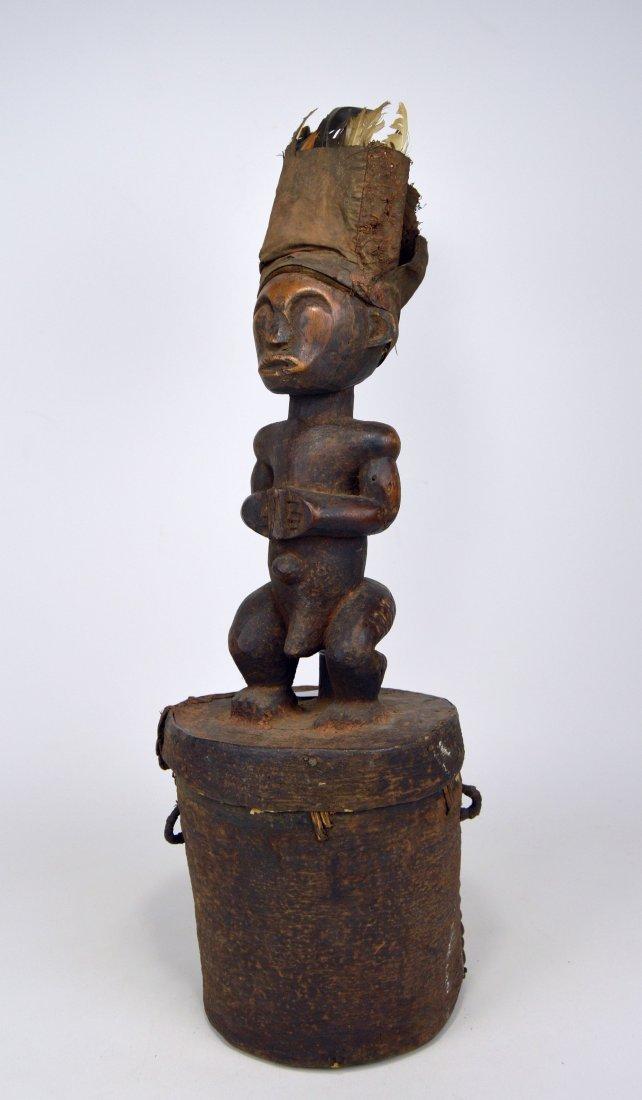 A Fang Male Ancestor on Bark Box, African Art