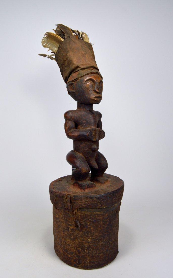 A Fang Male Ancestor on Bark Box, African Art - 2