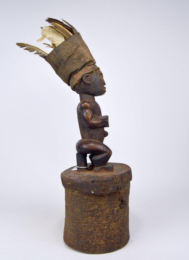 A Fang Male Ancestor on Bark Box, African Art - 3