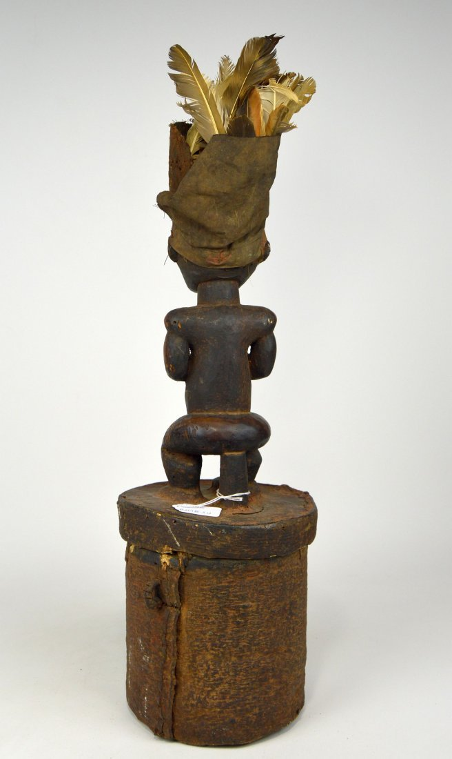 A Fang Male Ancestor on Bark Box, African Art - 4