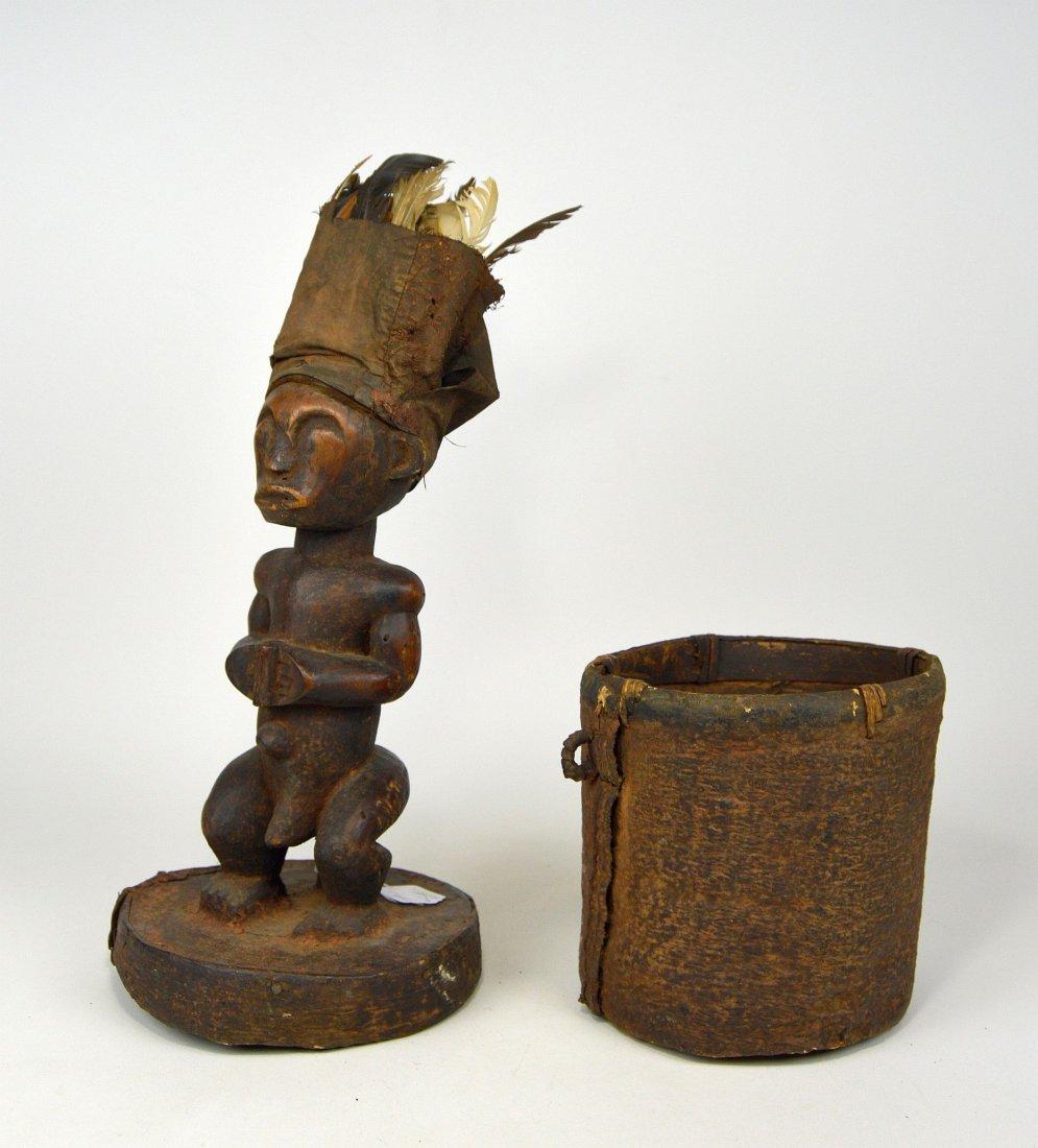 A Fang Male Ancestor on Bark Box, African Art - 5