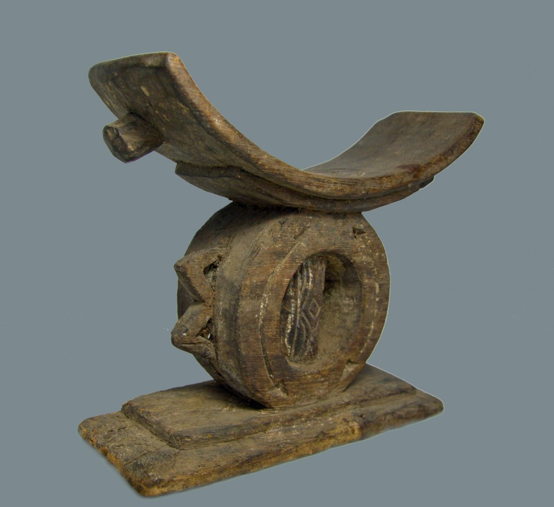 Old Ashanti Headrest, African Art & Form