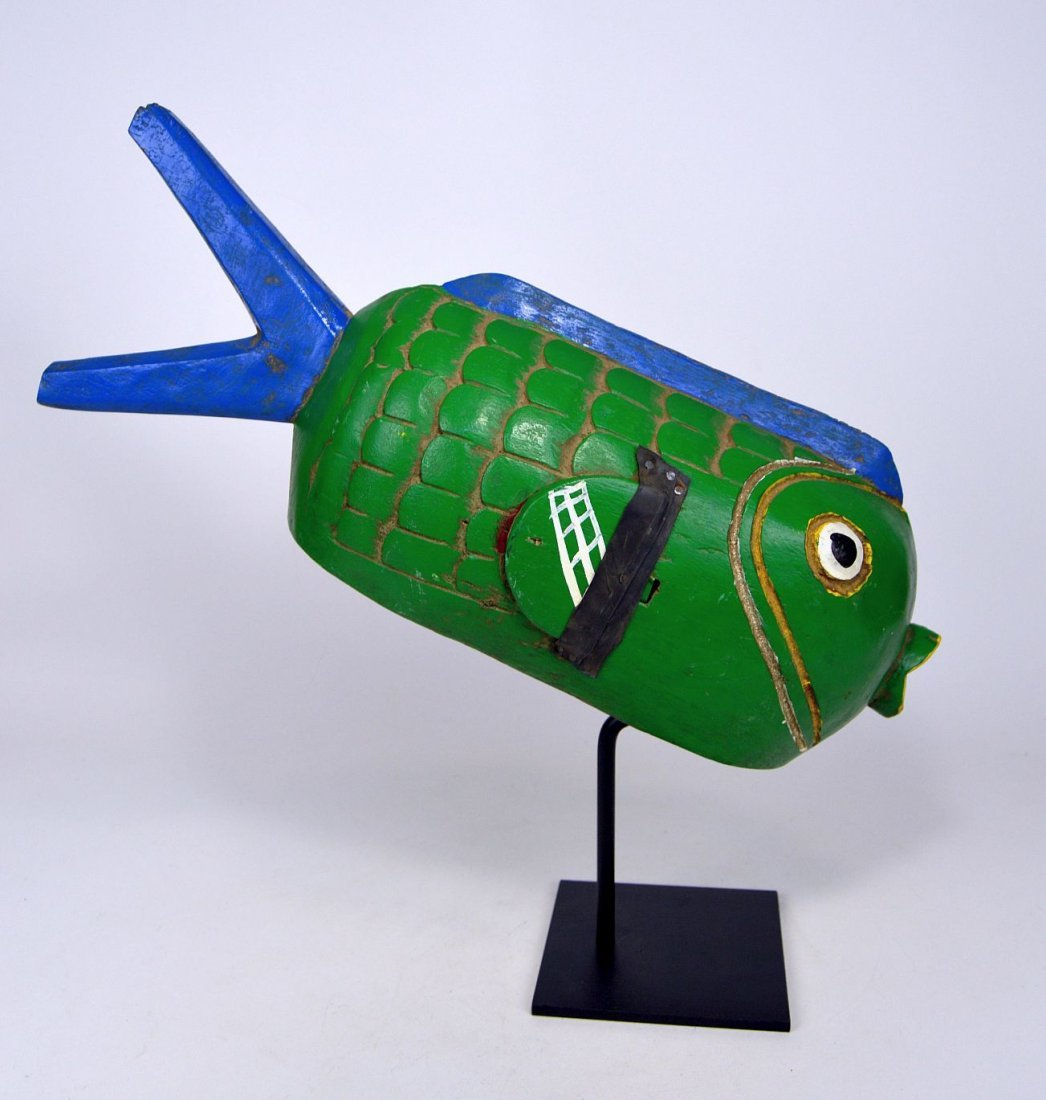 A Charming Bozo Fish mask, African Art - 2
