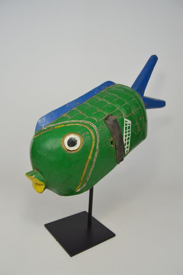 A Charming Bozo Fish mask, African Art - 3