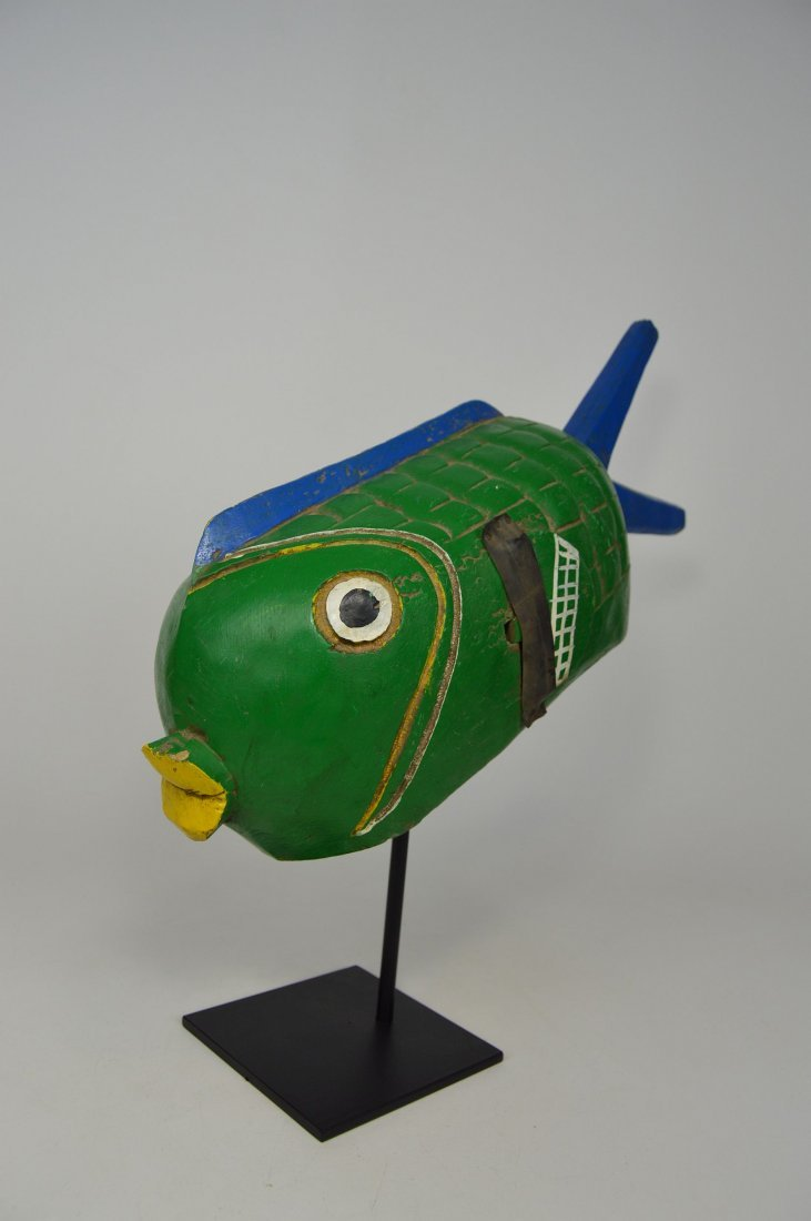 A Charming Bozo Fish mask, African Art - 4