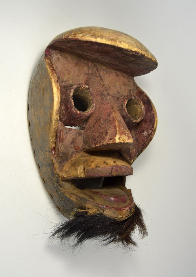 A Dan Kran Red face mask, African Art - 2