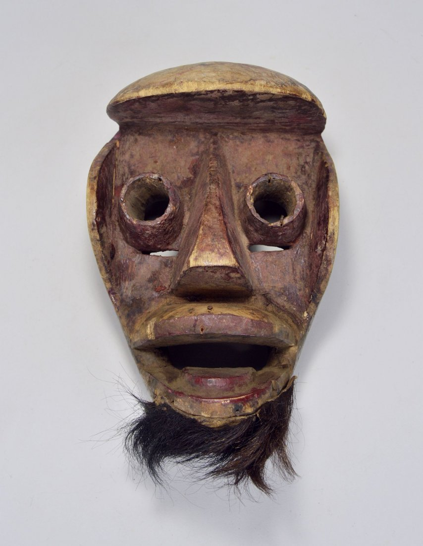 A Dan Kran Red face mask, African Art - 3