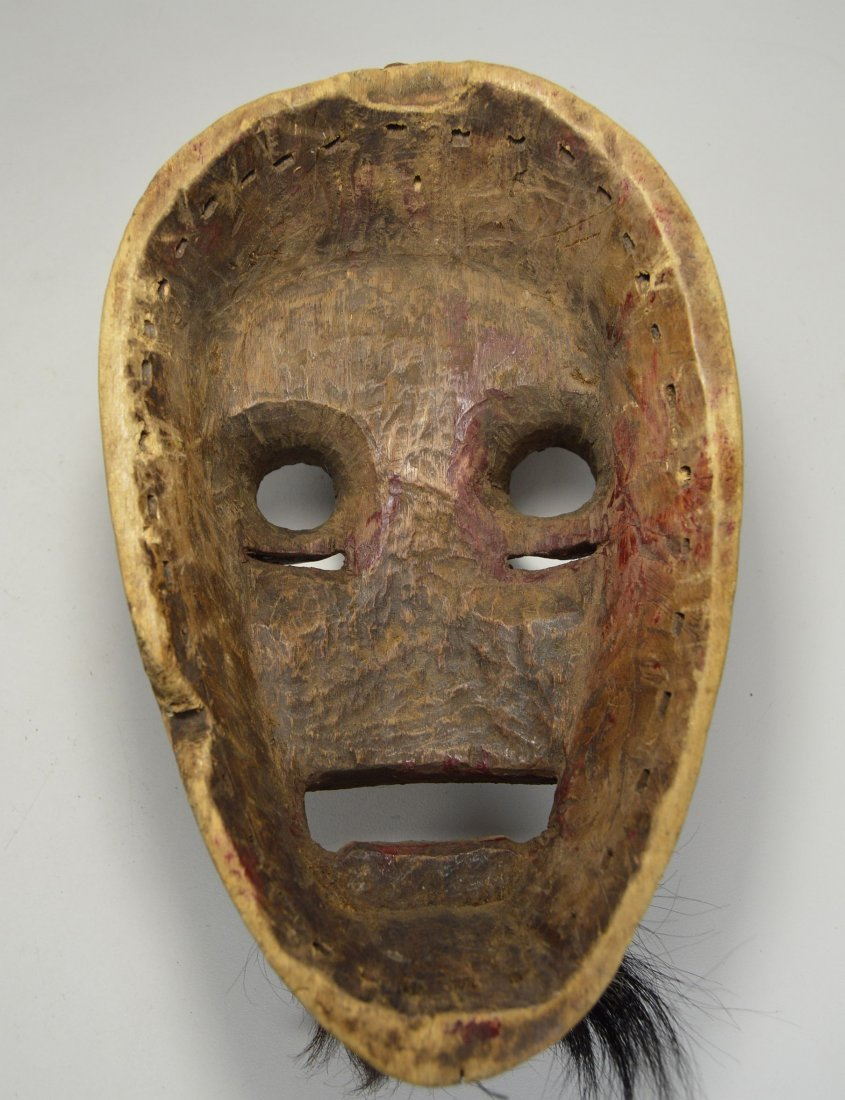 A Dan Kran Red face mask, African Art - 5