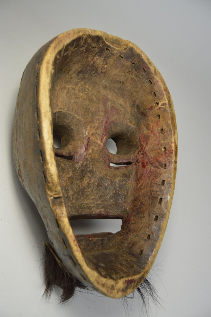 A Dan Kran Red face mask, African Art - 6
