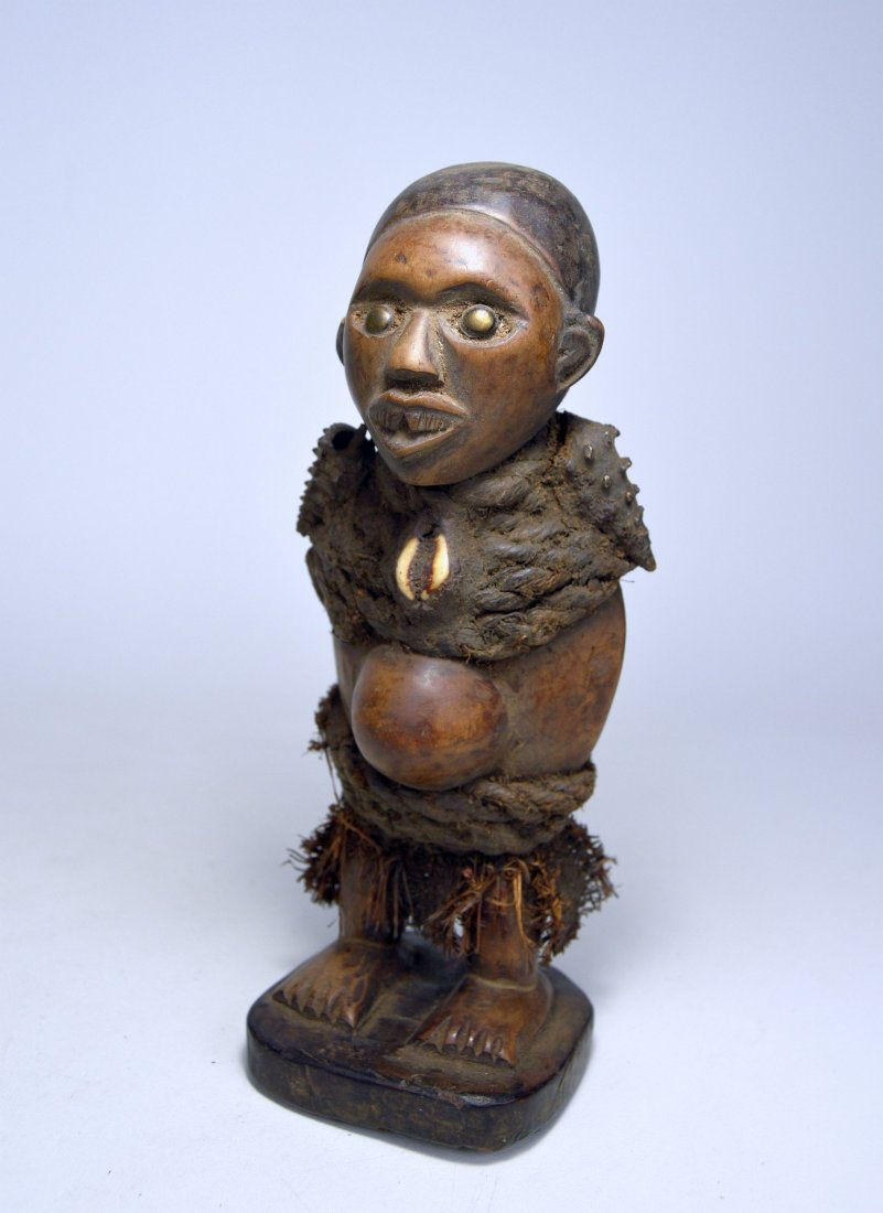 Small Yombe magic fetish sculpture, African Art