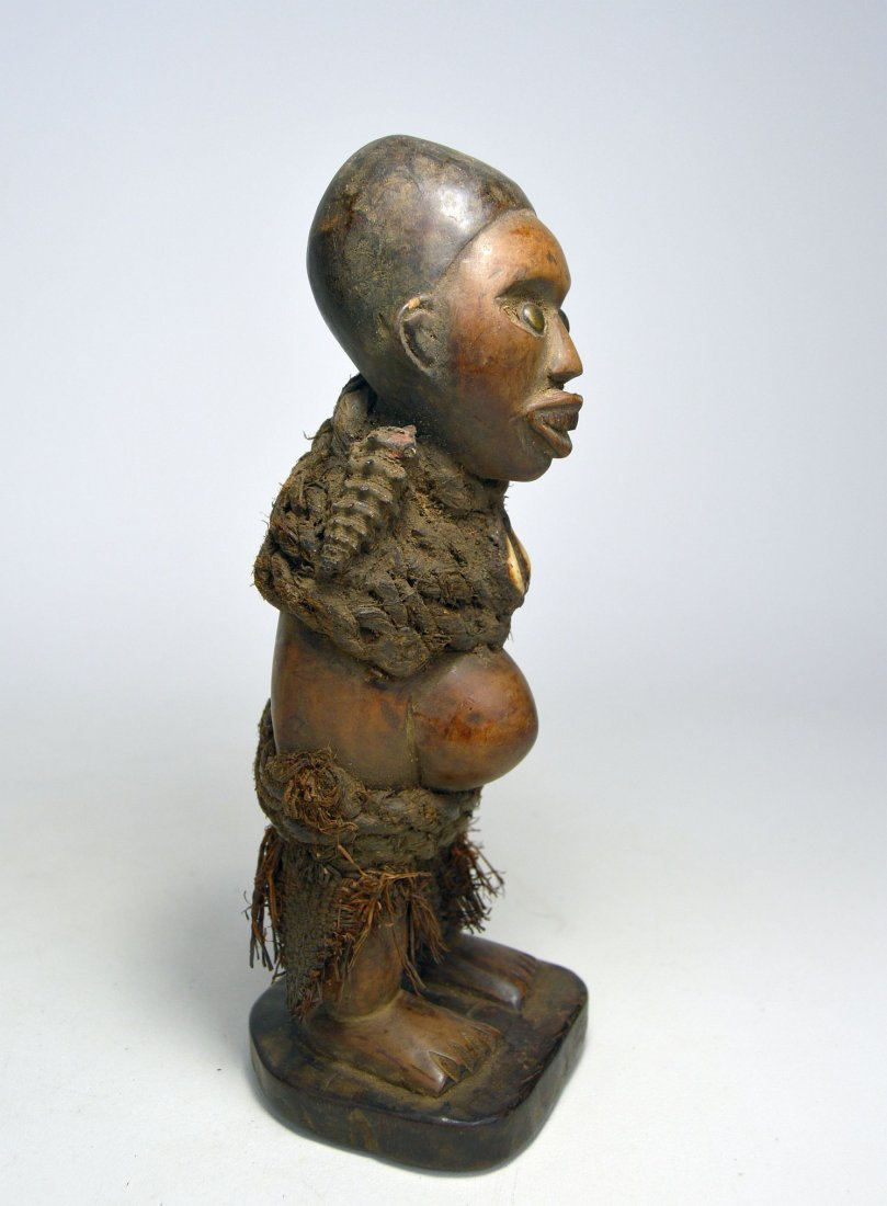 Small Yombe magic fetish sculpture, African Art - 3