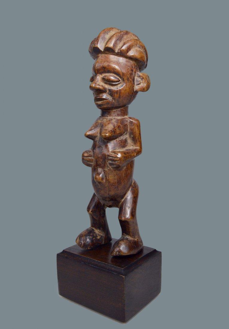 A Charming Yaka female sculpture, African Art