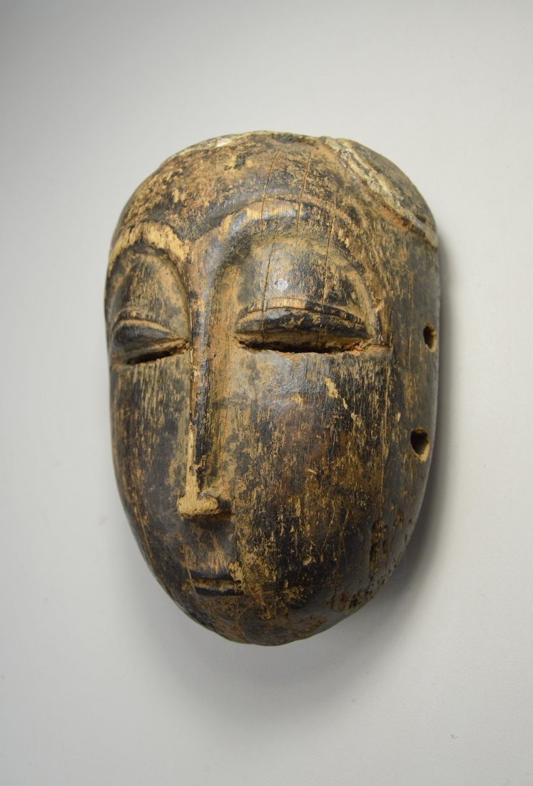 Eroded Old Baule Mask, Ex Bordogna Collection