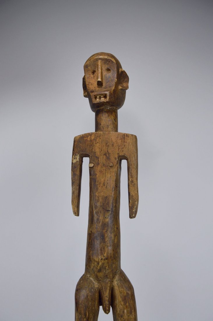 Tall Old Skeleton Like Sukuma Male Ancestor sculpture