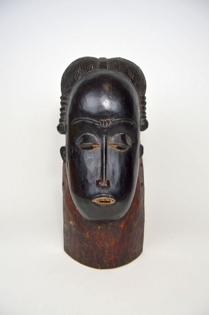 A Fine Baule Portrait Mask, African Art