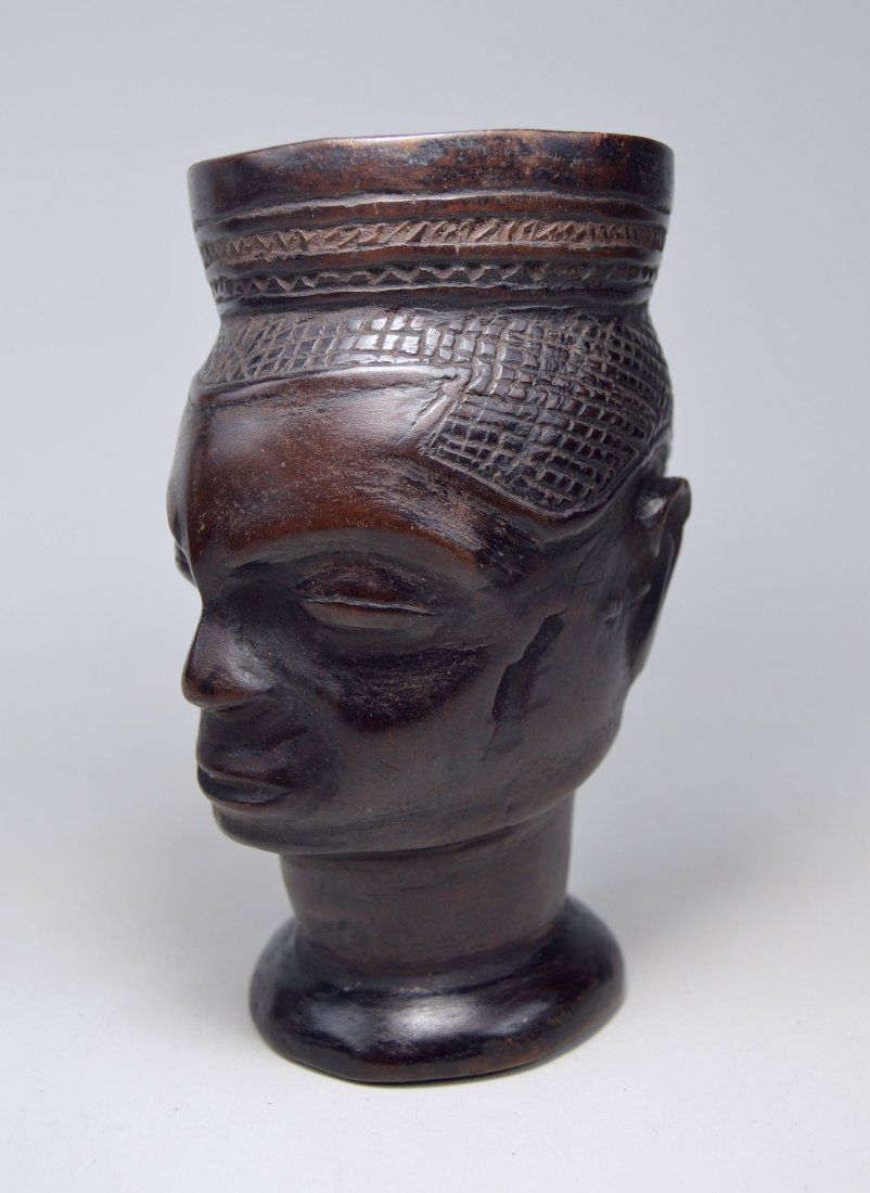 A Fine old Kuba Palm Wine Cup, African Art