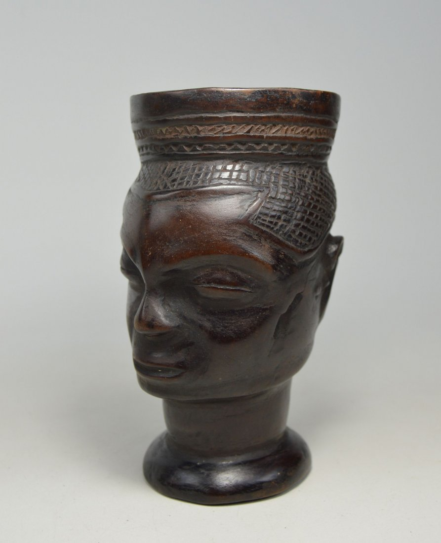 A Fine old Kuba Palm Wine Cup, African Art - 2