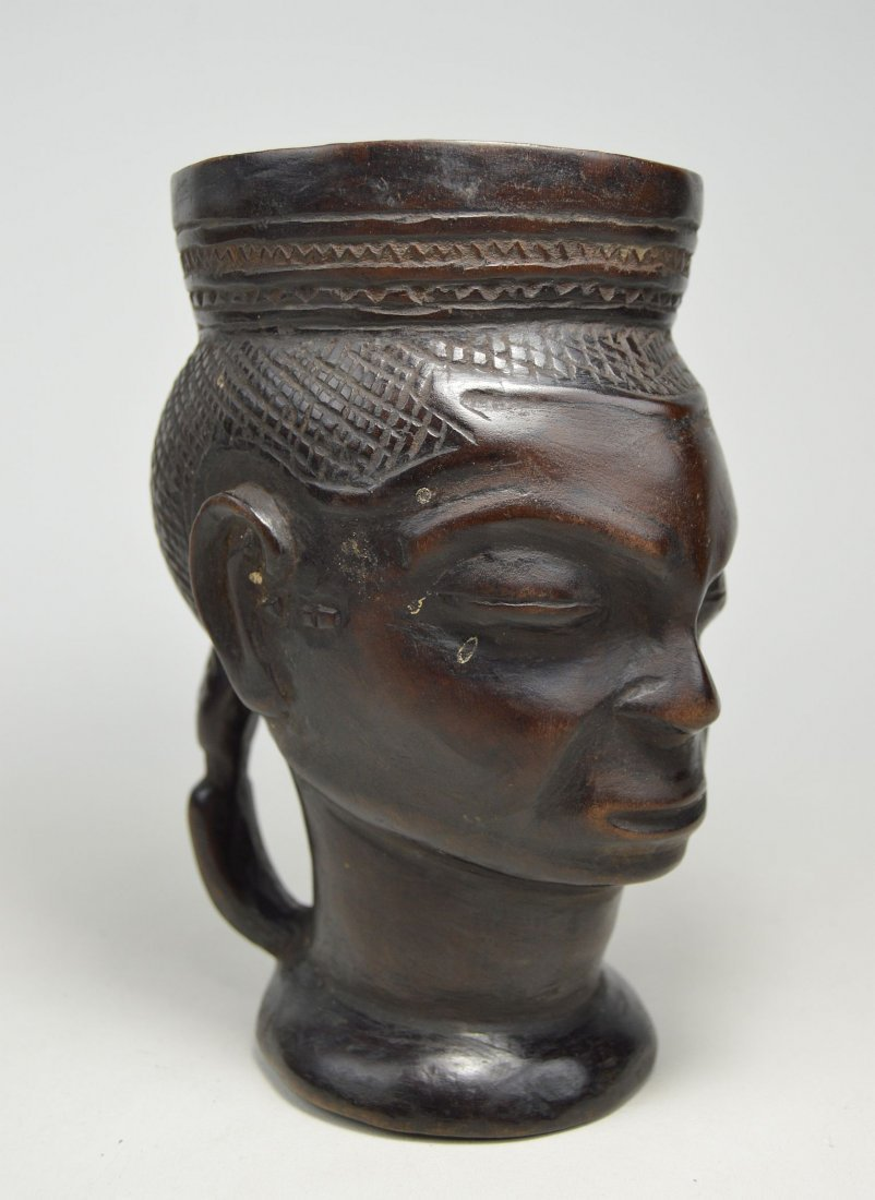 A Fine old Kuba Palm Wine Cup, African Art - 3