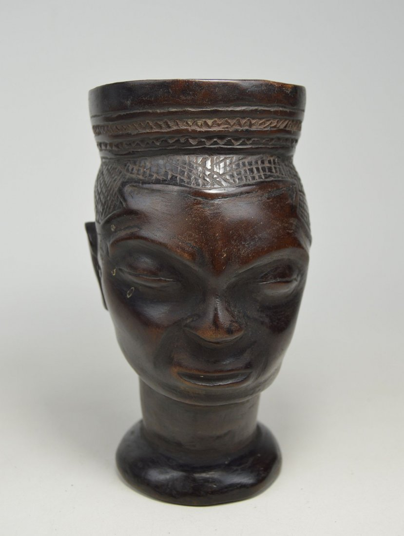 A Fine old Kuba Palm Wine Cup, African Art - 4