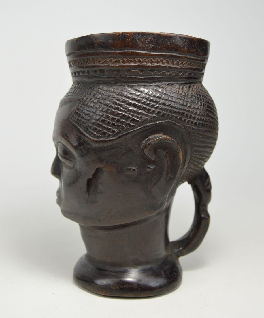 A Fine old Kuba Palm Wine Cup, African Art - 5