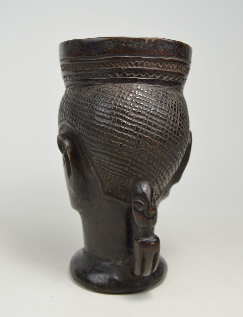 A Fine old Kuba Palm Wine Cup, African Art - 6