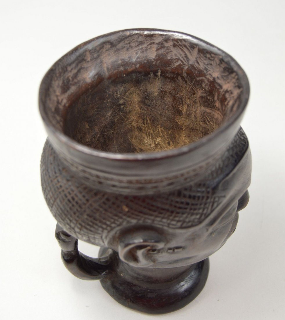 A Fine old Kuba Palm Wine Cup, African Art - 7