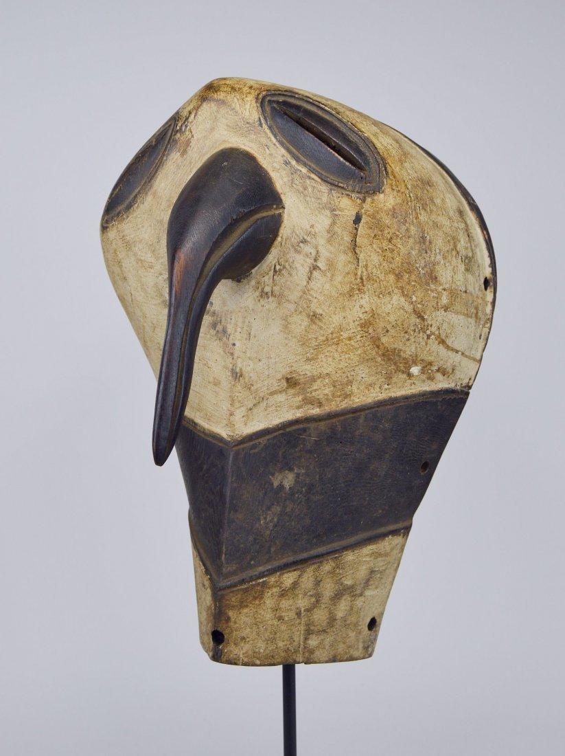 Elegant Luba Kifwebe Owl mask, African mask African Art