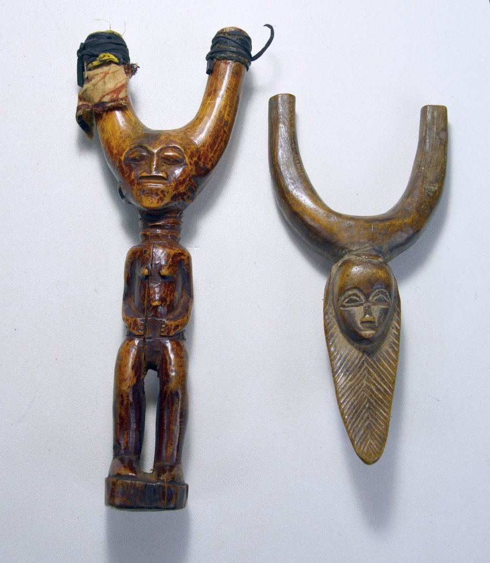 PAIR OF WELL WORN AFRICAN SLINGSHOTS