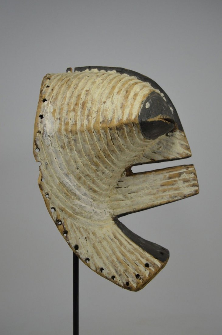 OLD SONGYE KIFWEBE AFRICAN MASK - 10