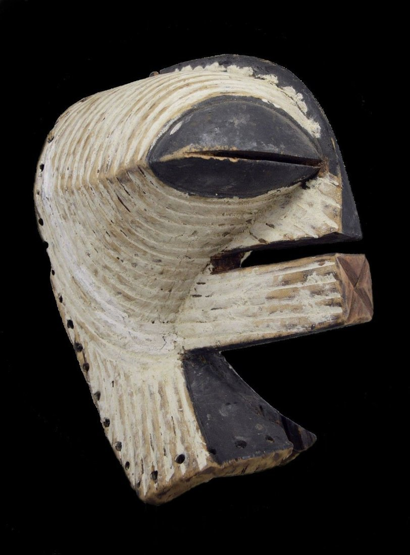 OLD SONGYE KIFWEBE AFRICAN MASK