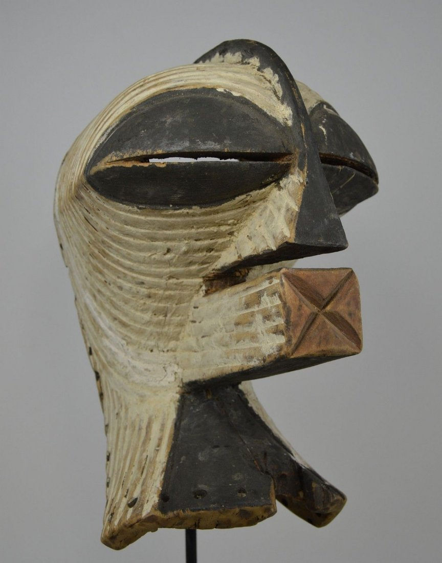 OLD SONGYE KIFWEBE AFRICAN MASK - 2
