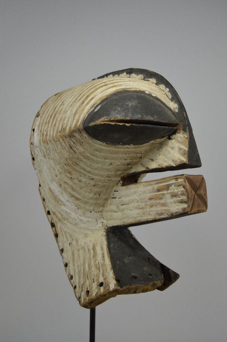 OLD SONGYE KIFWEBE AFRICAN MASK - 4