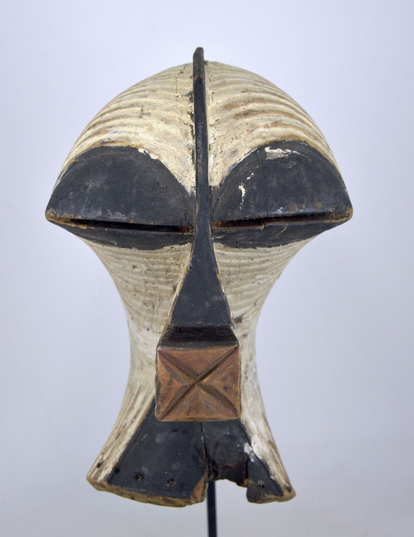 OLD SONGYE KIFWEBE AFRICAN MASK - 8