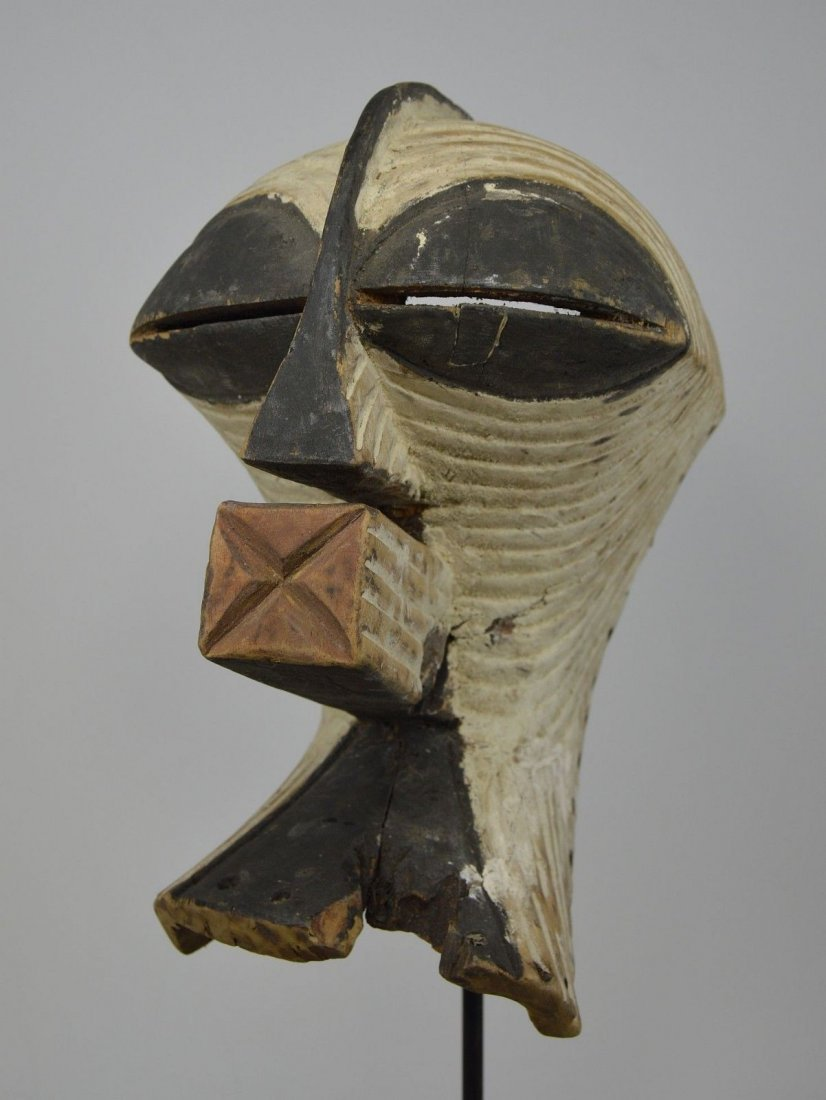 OLD SONGYE KIFWEBE AFRICAN MASK - 9