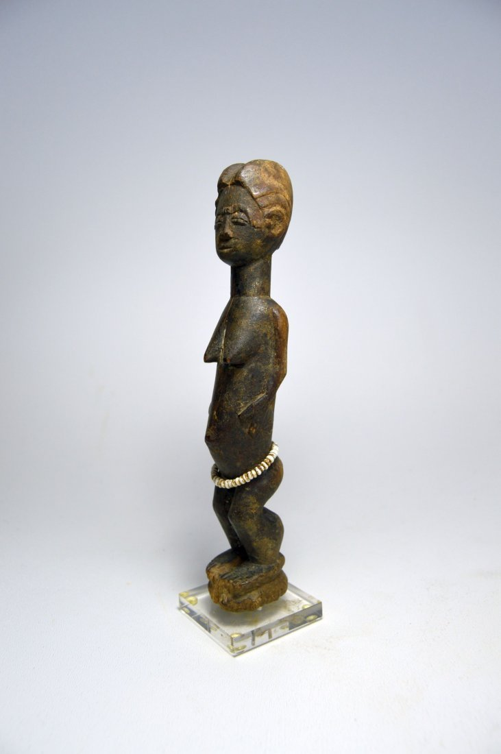 MINIATURE BAULE FEMALE IDOL AFRICAN ART - 4