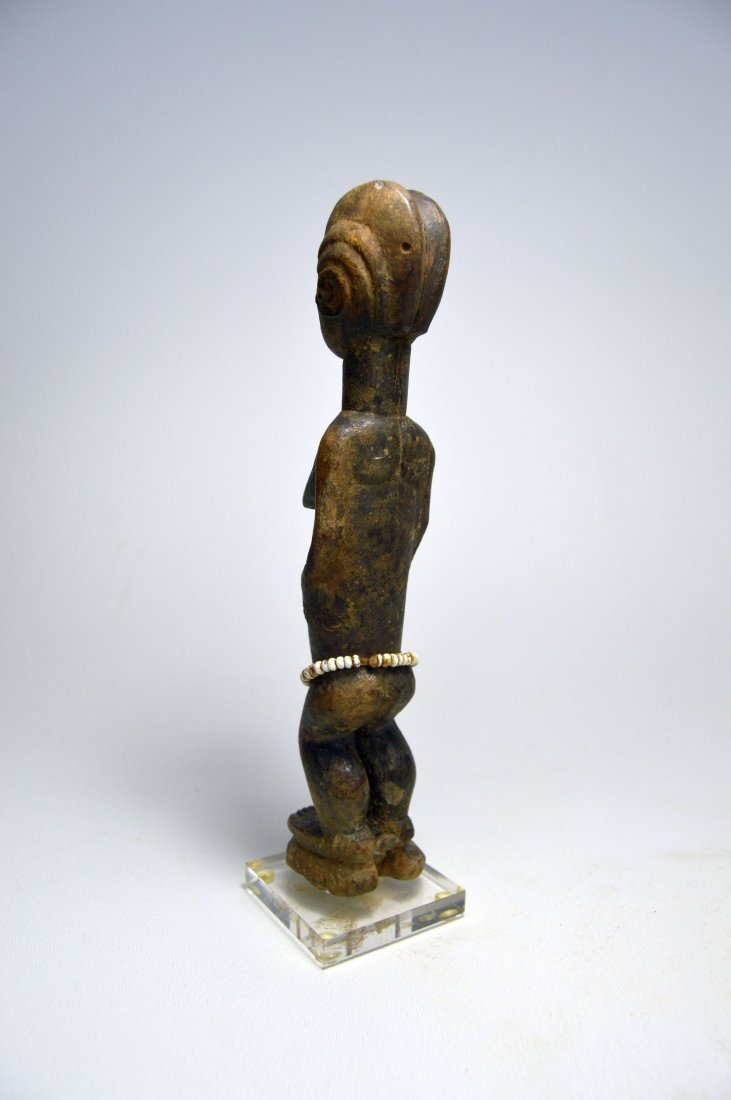 MINIATURE BAULE FEMALE IDOL AFRICAN ART - 5