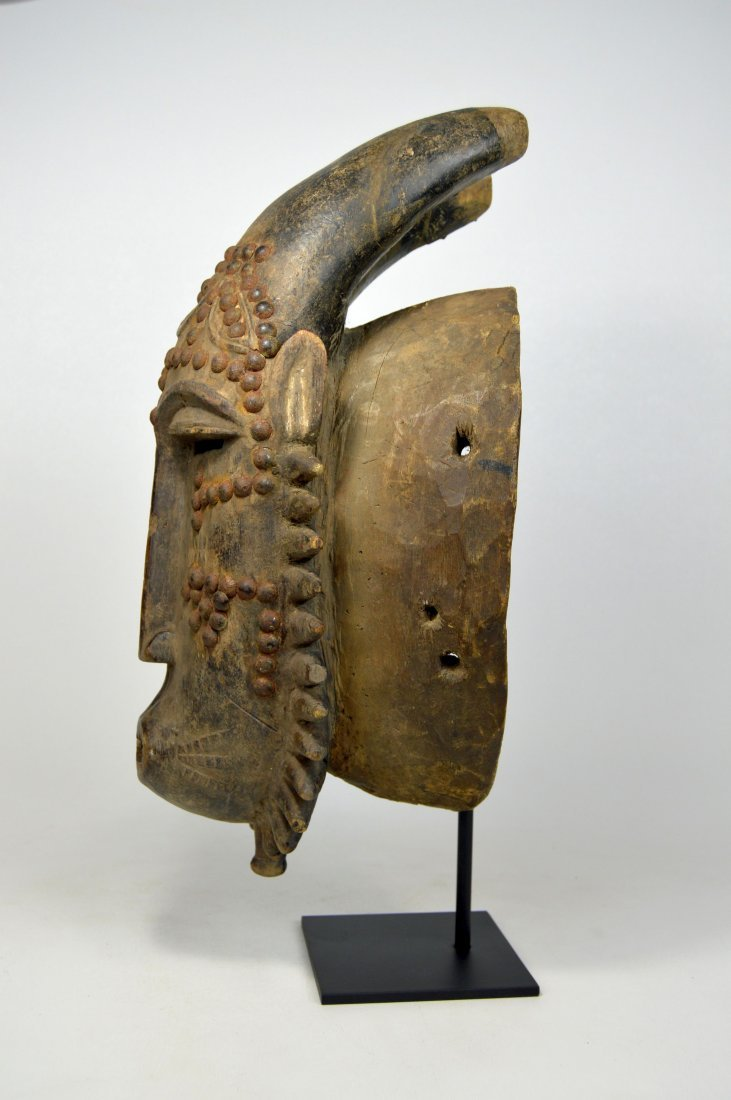 Baule Kwpan Pre African Dance mask with Horns - 10