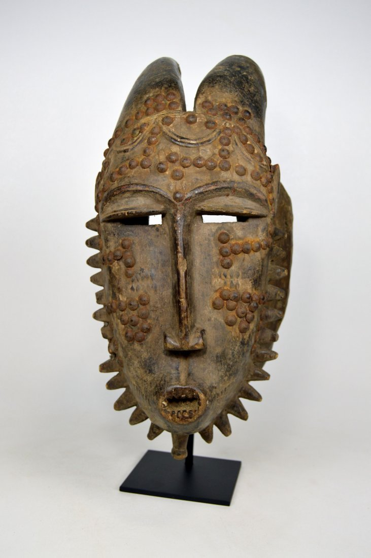 Baule Kwpan Pre African Dance mask with Horns - 4