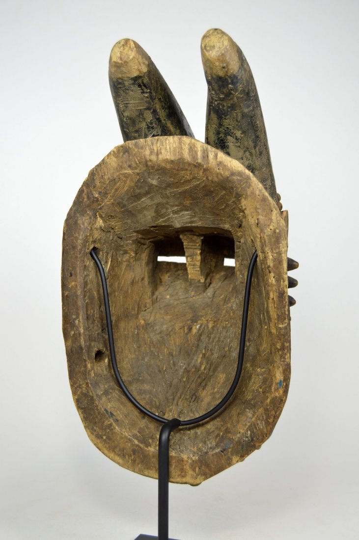 Baule Kwpan Pre African Dance mask with Horns - 8