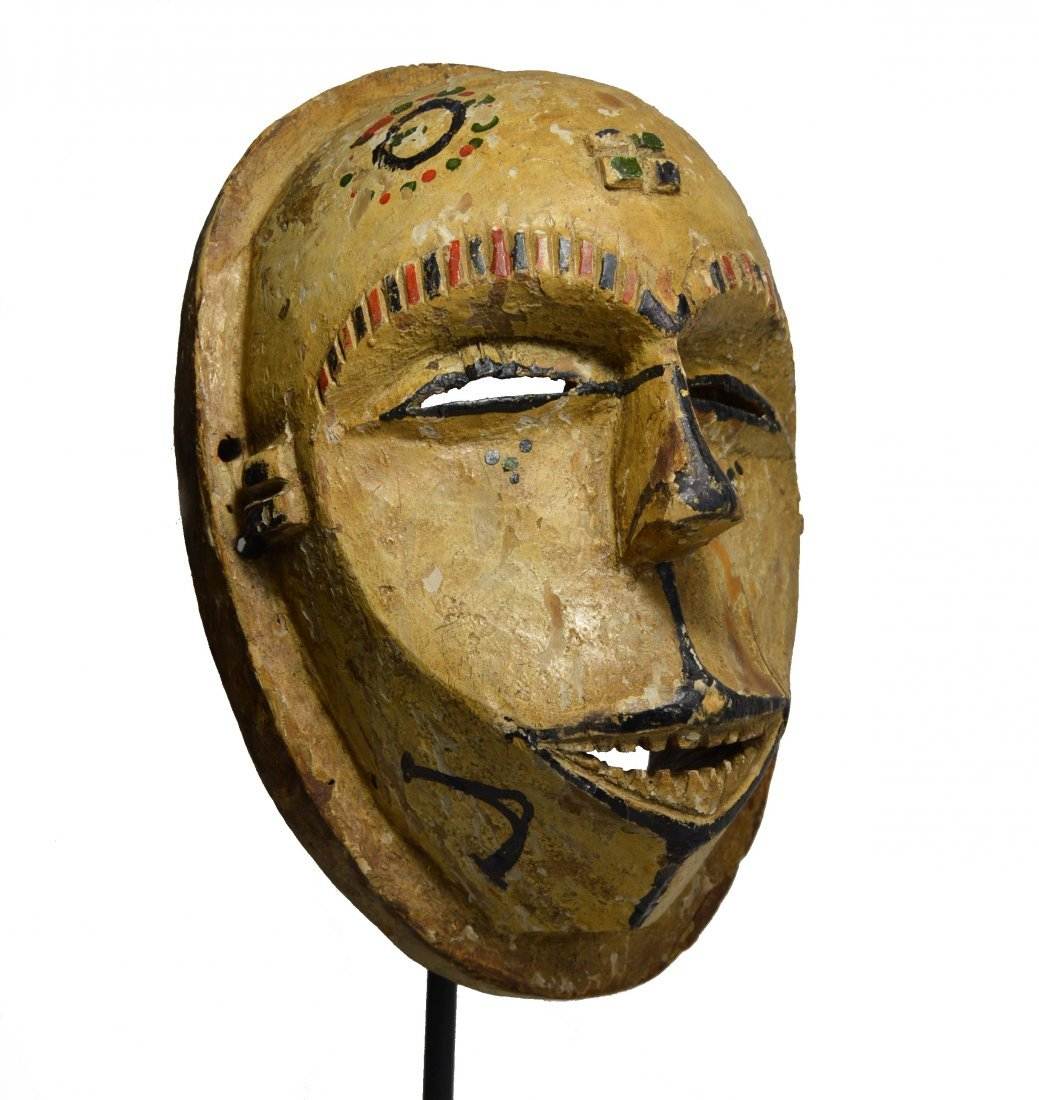 A Rare Old Idoma African Mask, African Art