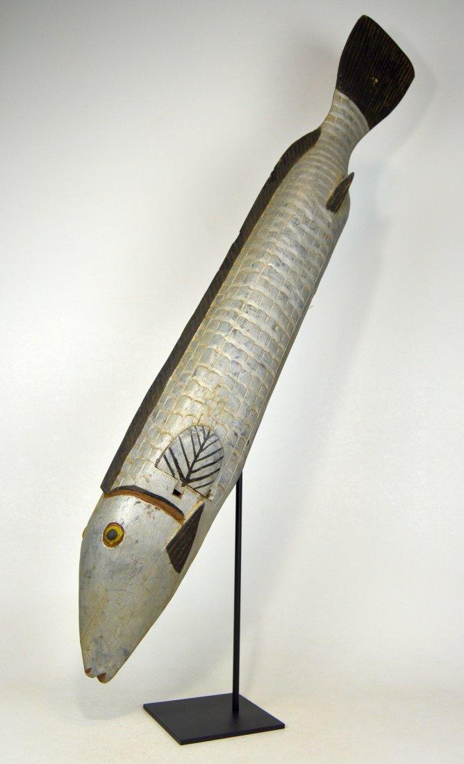 Huge Bozo Fish Parade Mask, African Art - 3