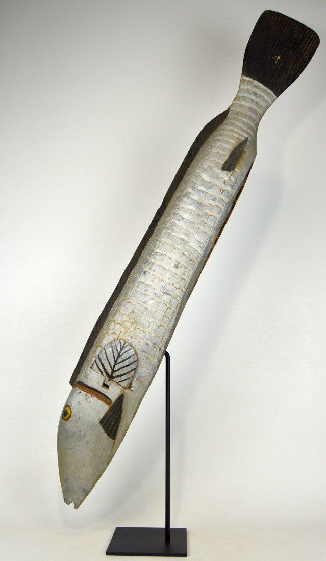 Huge Bozo Fish Parade Mask, African Art - 4