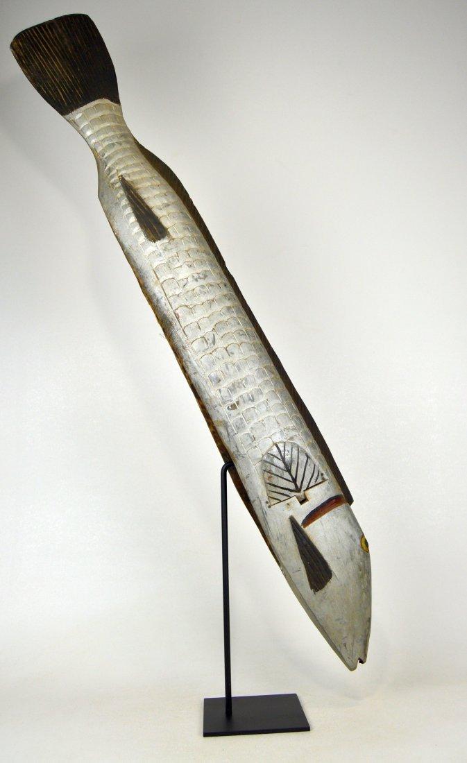Huge Bozo Fish Parade Mask, African Art - 6