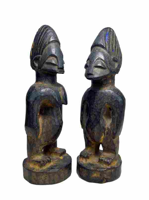 Pair of Ibeji Twin Idols Ex~ Harry A Franklin,Sotheby's