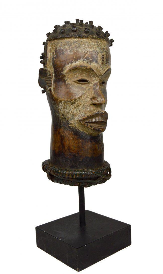 Old Idoma Head Crest, African Art Ex Gansler Collection