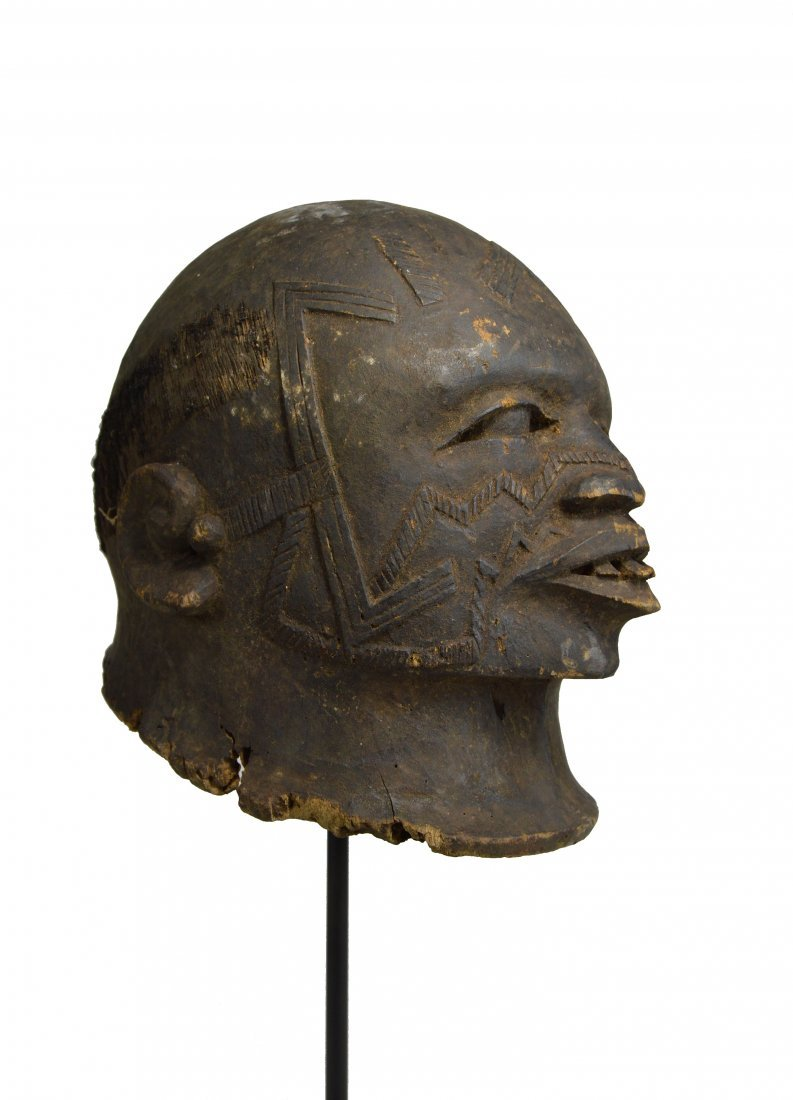 Makonde Lipiko Elder Portrait mask Ex Warkow Collection