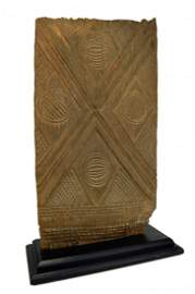 Ancient Igbo Carved Wooden African Door, Custom Mounted