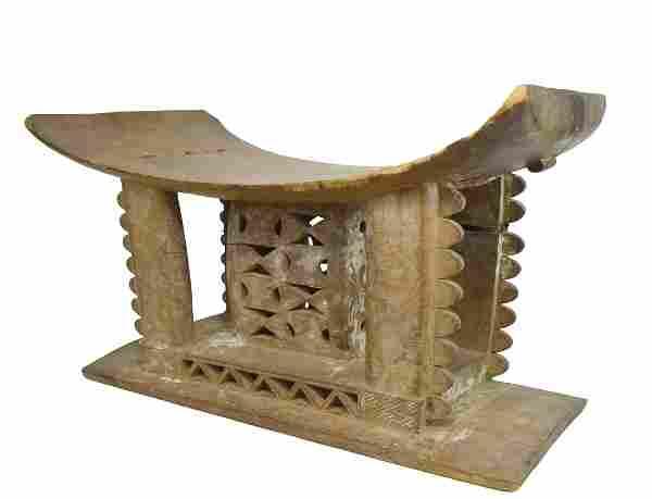 An Ashanti Royal Stool, African Tribal Art